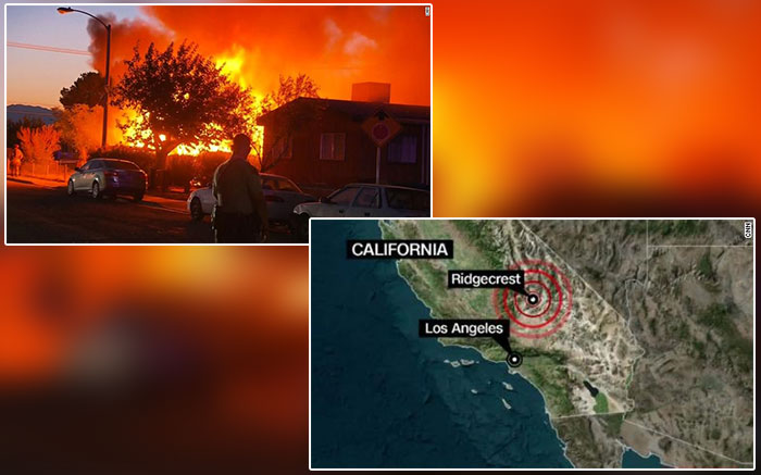 The Larger Magnitude 7 1 Earthquake Hits Southern California Today The New Second Earthquake Occurred 11 Miles North Southern California Earthquake California