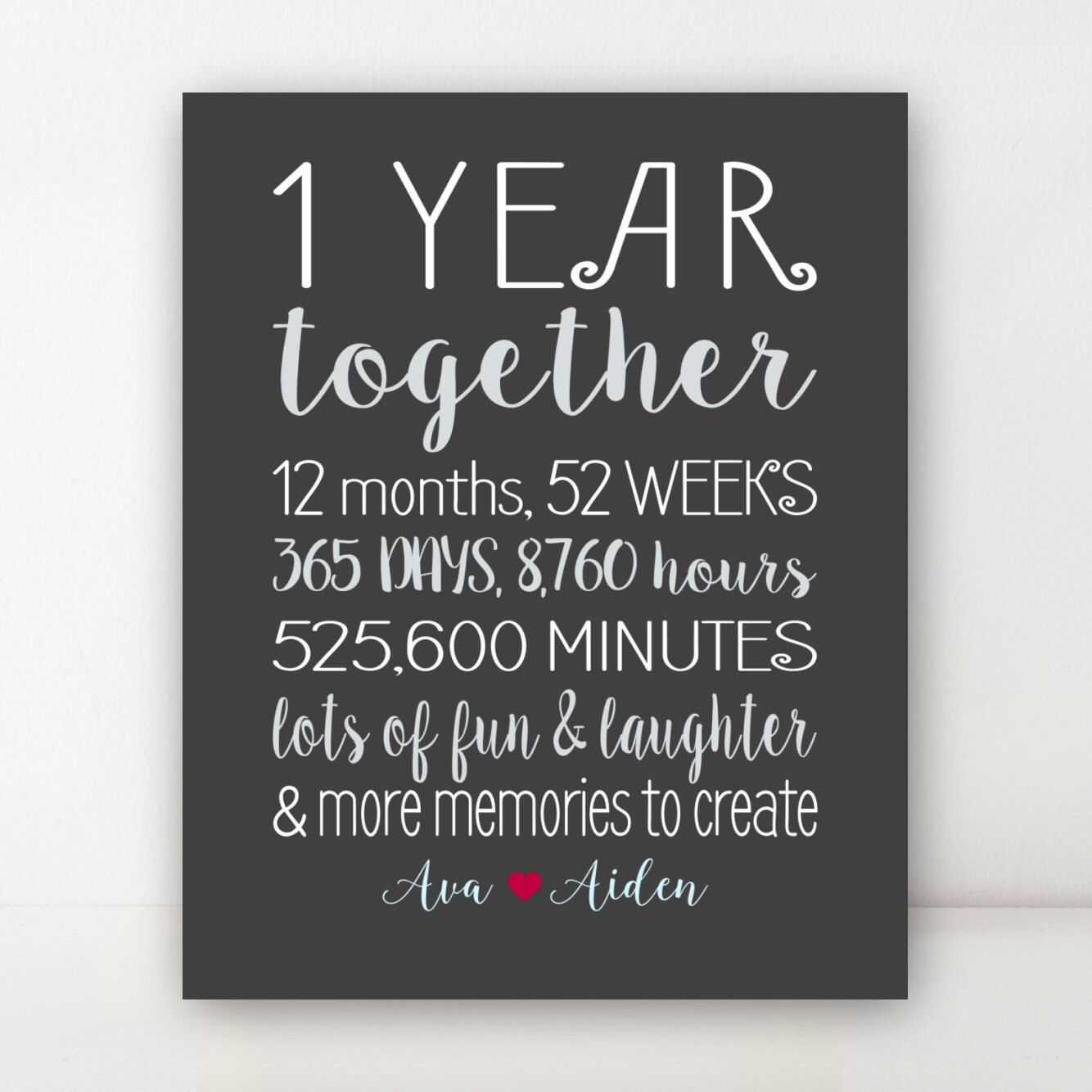 On Year Anniversary Gift 1st Anniversary Together