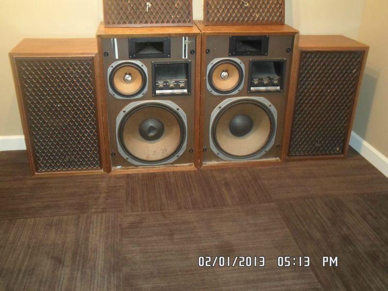 vintage sansui speakers. studio sound wall - set of vintage 1970\u0027s famous sansui speakers