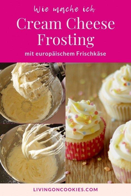 Anleitung für Cream Cheese Frosting mit europäischem Frischkäse #cookiesandcreamfrosting