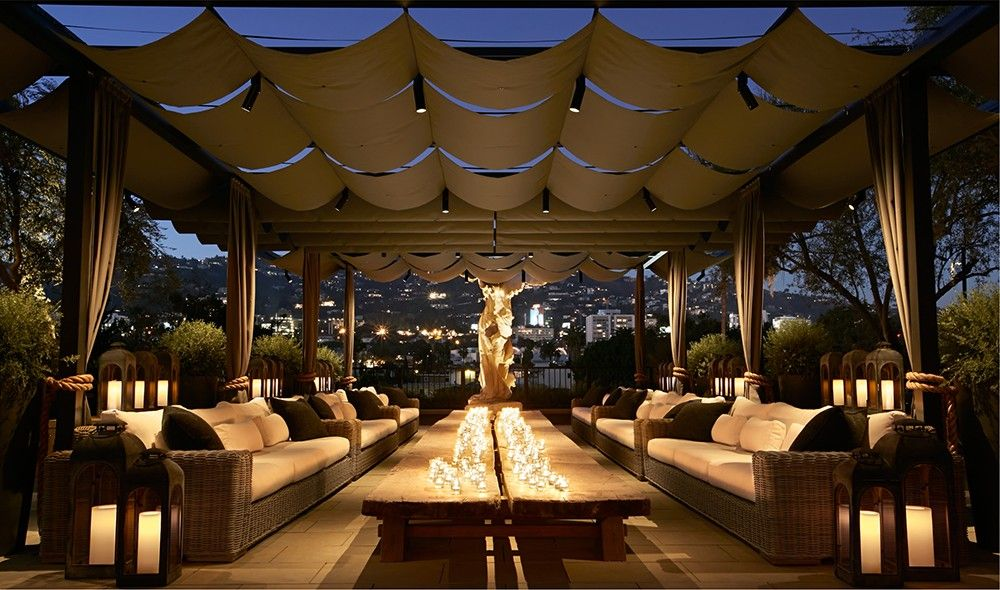 sailcloth canopy Restoration Hardware West Hollywood