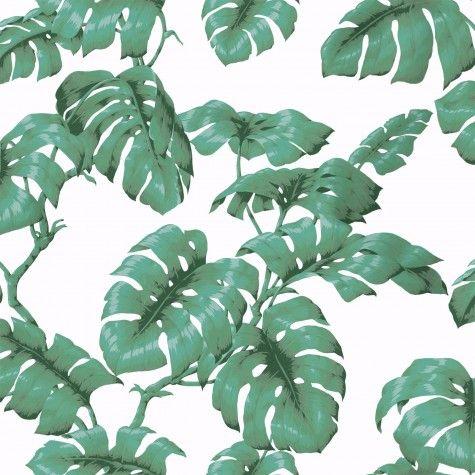 TAROVINE Wallpaper White Green