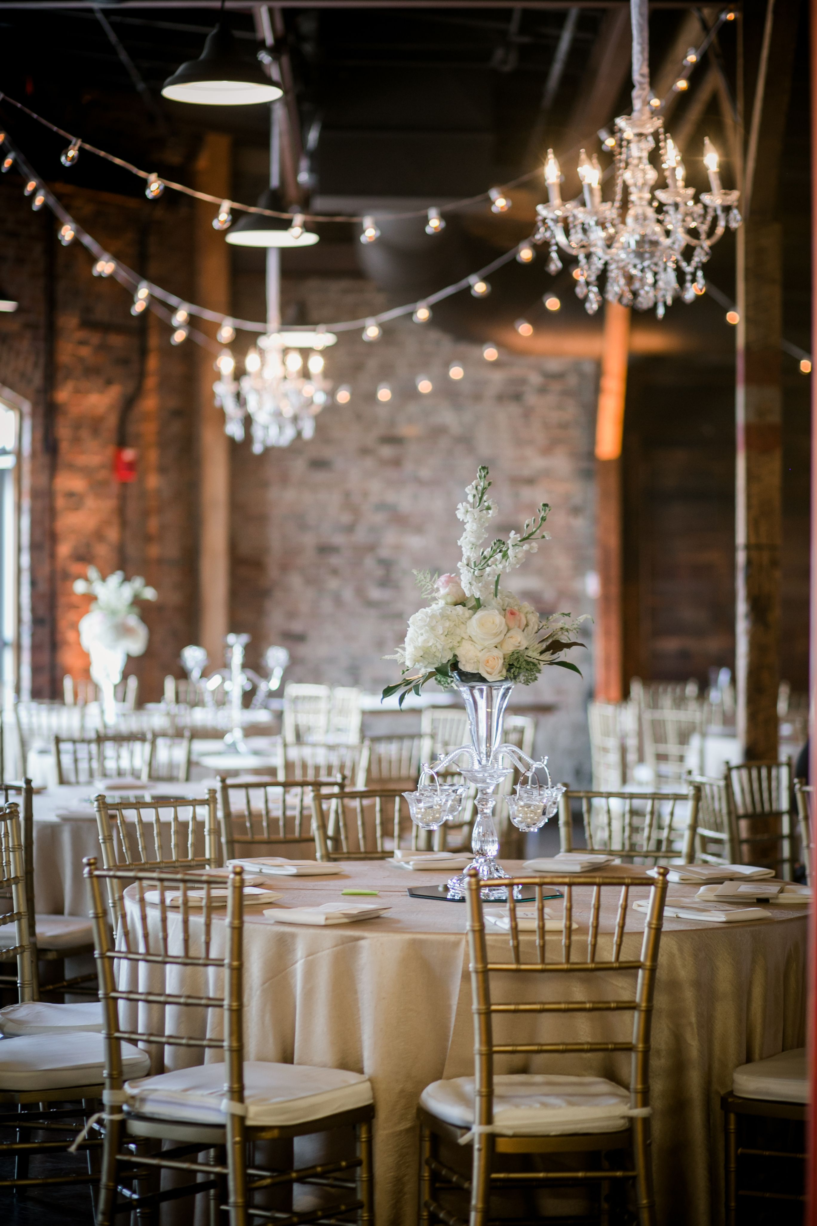 Classic Wedding At Houston Station Southern Events Party Rental Company Franklin Nashville Middle Tennessee Wedding Classic Gold Chiavari Chairs Luxury Wedding Venues