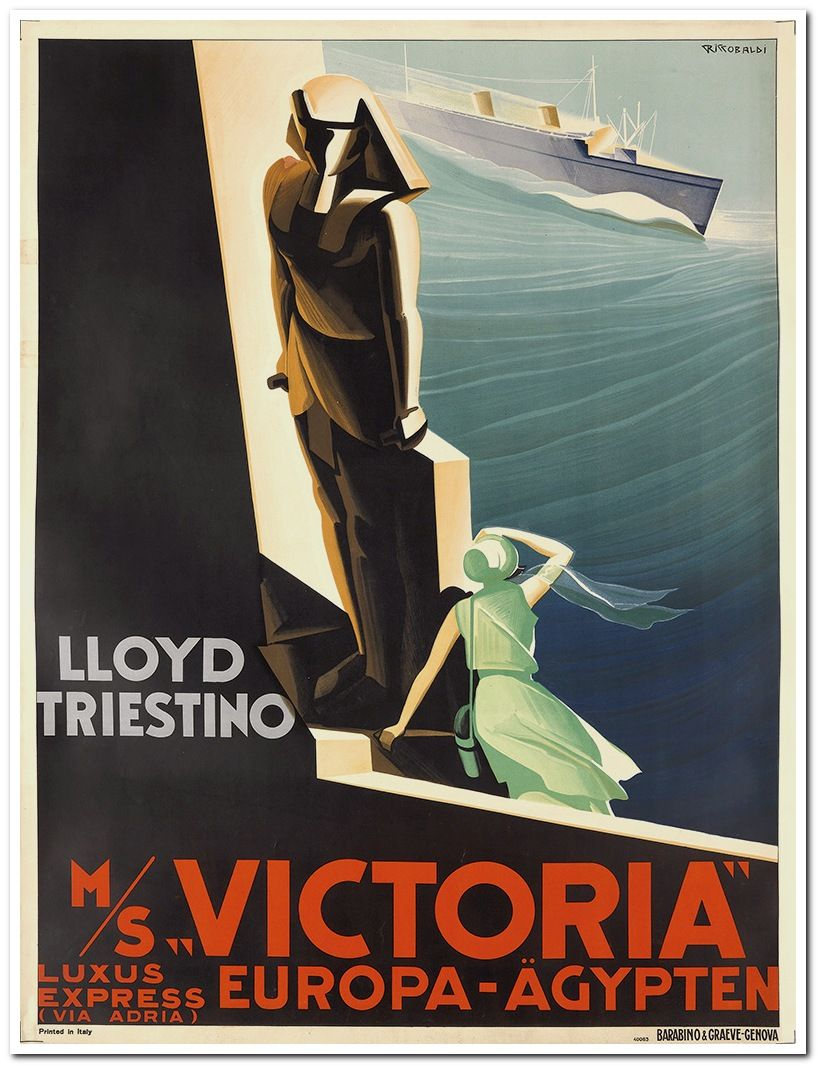 24x36 South Africa Lloyd Triestino 1940s Vintage Style Travel Poster