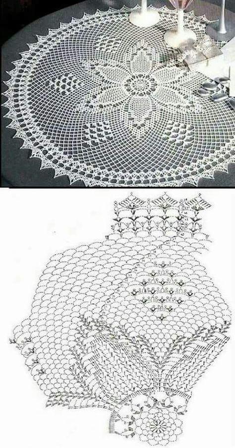 Oval crochet doily pineapple crochet doily oval lace doily | Crochet ...
