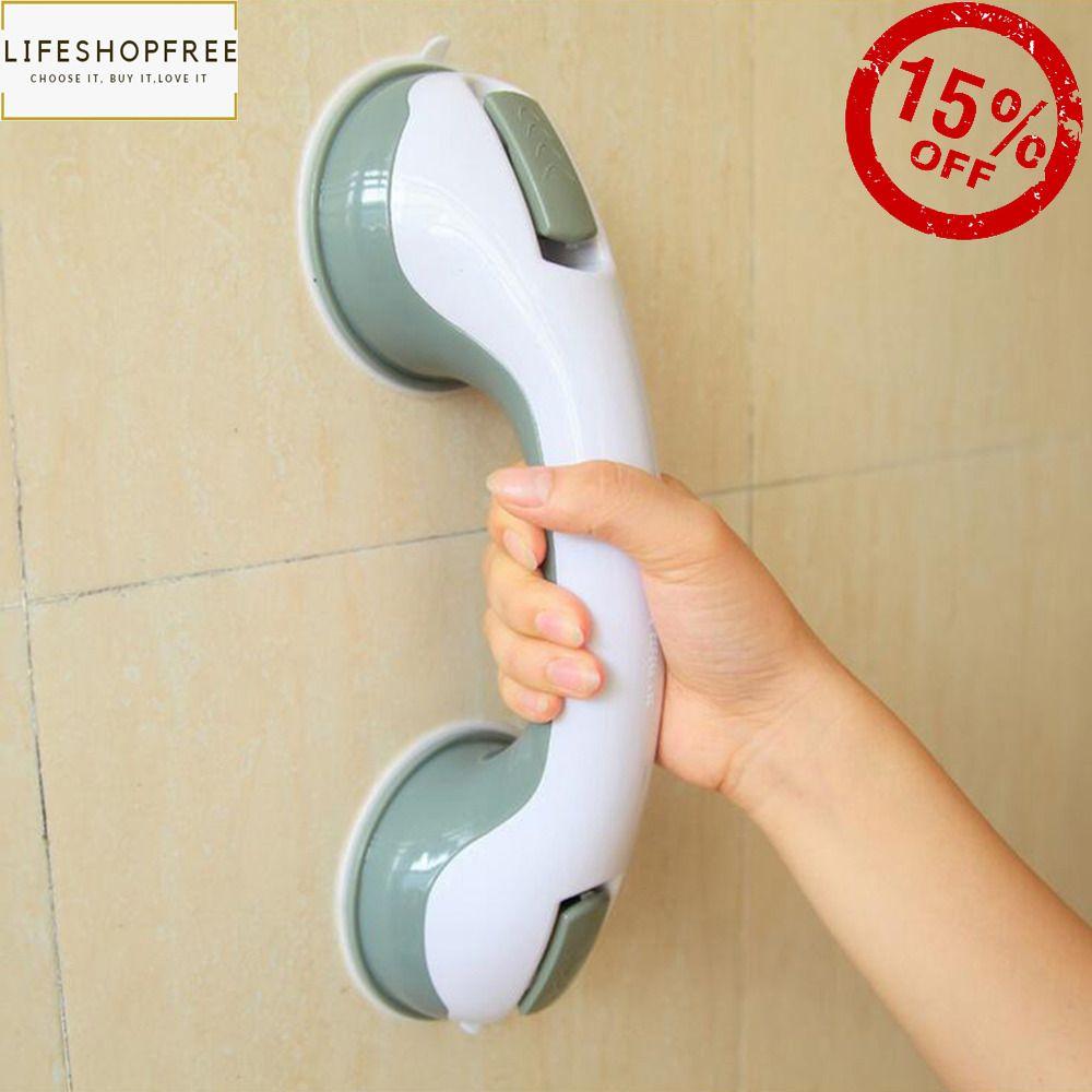 Bath Safety Handle Suction Cup Handrail Grab Bathroom Grip Tub Shower Bar Raill