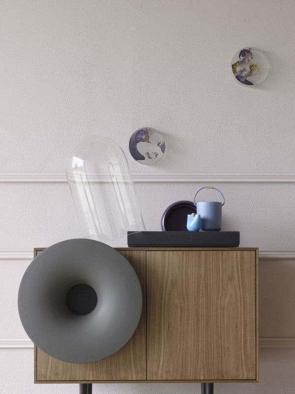a cabinet with a bluetooth speaker | speakers, consoles and design