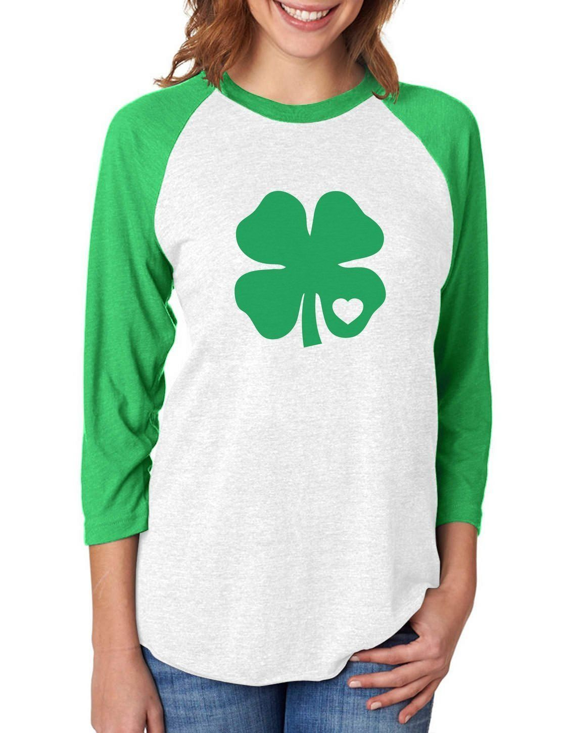 Green Clover Heart St Patricks Irish 3//4 Sleeve Baseball Jersey Toddler Shirt