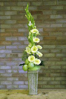 ikebana arrangement. tall form.