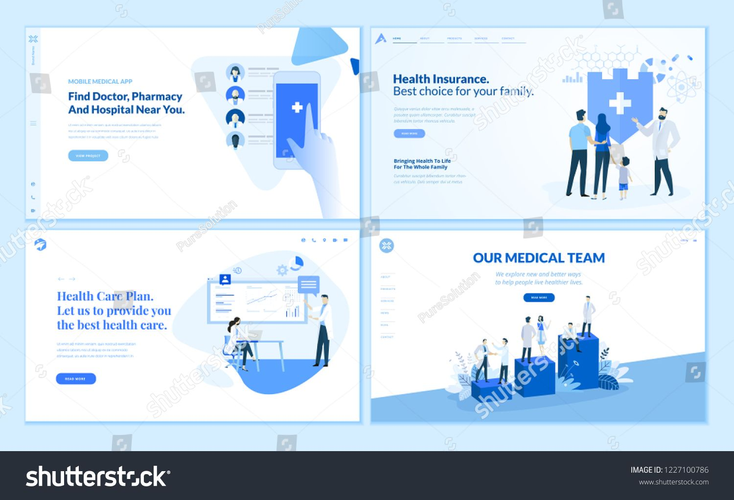 Web Page Templates Collection Of Health Insurance Health Care