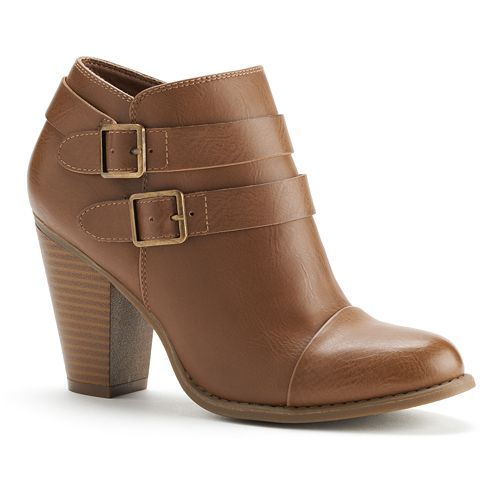 love these buckle ankle booties for fall ($39.99)