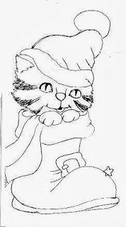 Botas De Natal Pintura De Natal Desenho De Natal Desenhos De Gatos