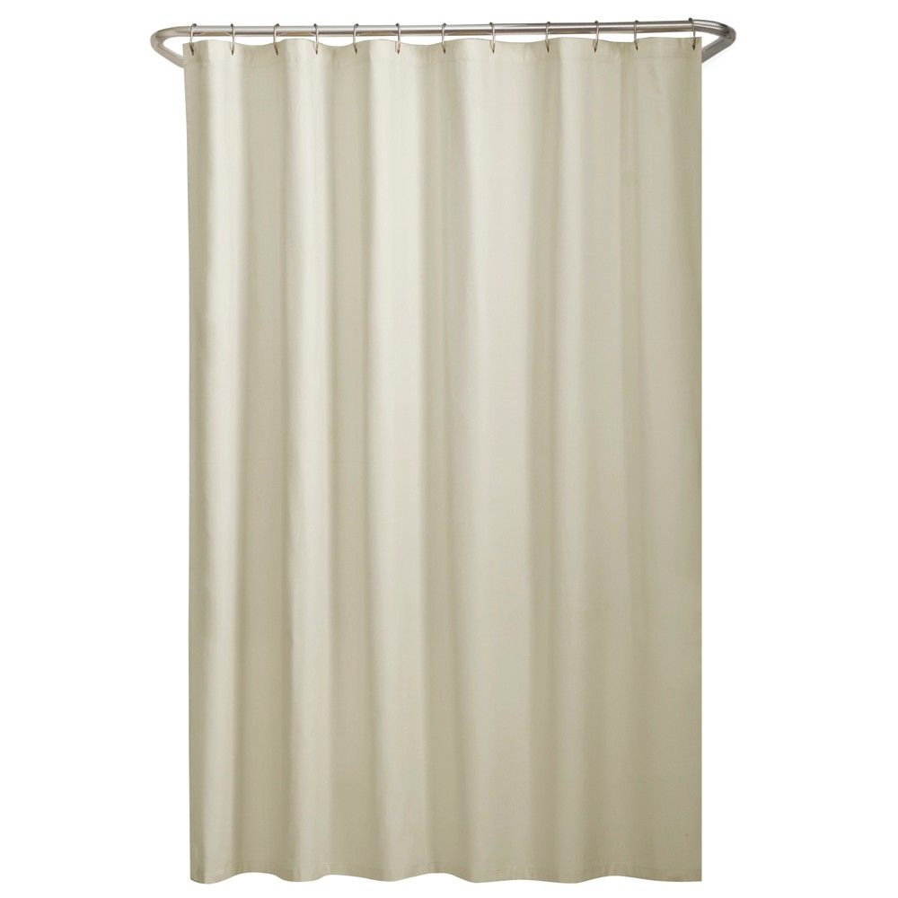 Water Repellant Fabric Shower Liner Cream Ivory Maytex