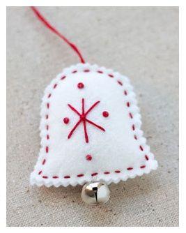 Campanas de navidad en fieltro decora tu arbol de navidad - Decoracion navidena fieltro ...