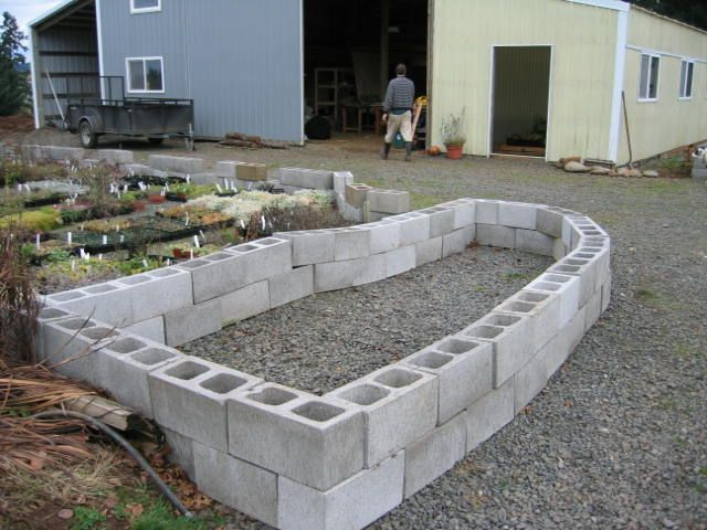 Concrete Raised Bed Use The Holes In The Cinder Block As Miniature Planters For Herbs Cinder Block Garden Cinder Block Walls Cinder Block Garden Wall