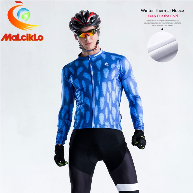 42.00$  Buy here - http://alifnd.worldwells.pw/go.php?t=32759236242 - Malciklo Cycling Clothing Winter Thermal Fleece Racing MTB Maillot Rock Racing Bike Clothing Ropa Ciclismo Cycling Jersey W028
