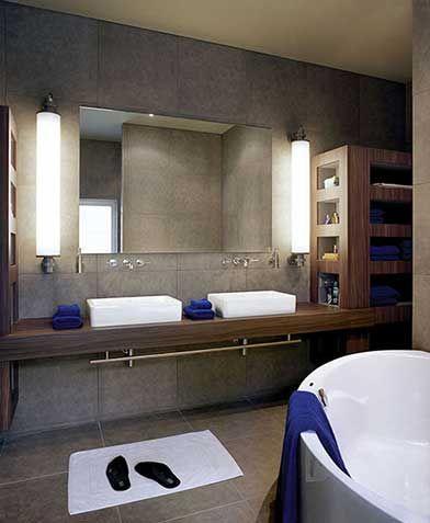 Bathroom Lights Pretoria toepassing modular fuser in de badkamer | wall lighting