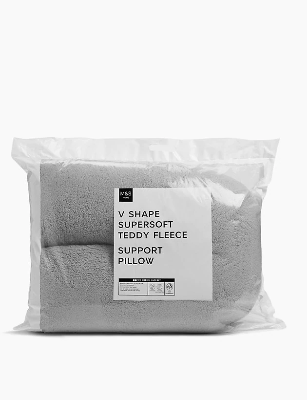 Teddy Fleece V Shaped Pillow