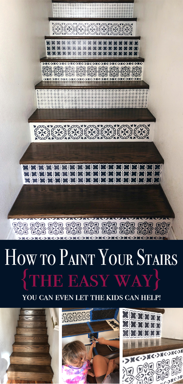 How To Paint Wood Stairs With Chalk Paint Painted Wood Stairs