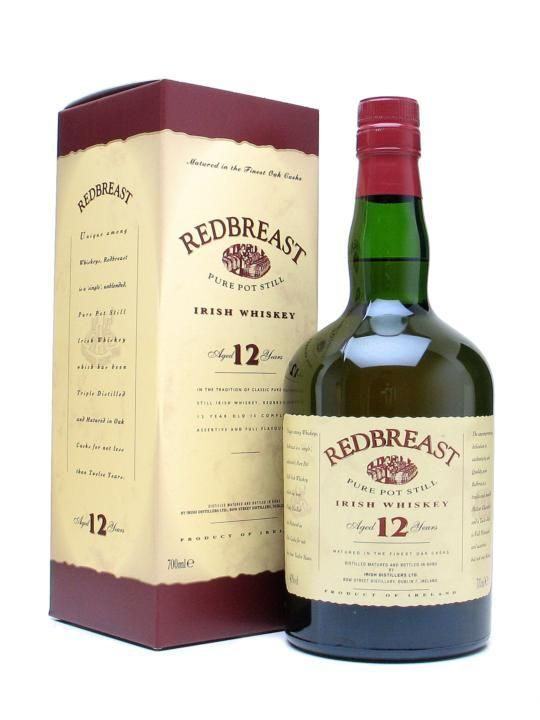 Redbreast 12 Year Old Irish Whiskey Made By The Same Distillery That Is Responsible For Jameson Powers And Tullamore Dew With Images Irish Whiskey Whiskey Whisky