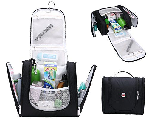 Magictodoor Hanging Toiletry Bag Cosmetic Travel Bathroom Case Kit Mens Shaving Black Wdin020018hei