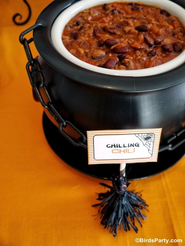 How To Style A Halloween Chilling Chili Buffet Homemade Chili Recipe By Bird S Party Halloween Chili Recipe Halloween Buffet Homemade Chili Recipe Recipes