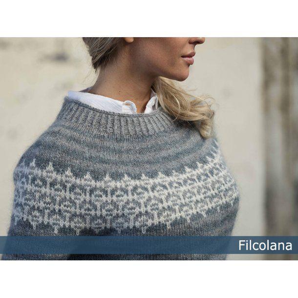 Foss Damesweater med nordisk islæt - gratis PDF strikkeopskrift