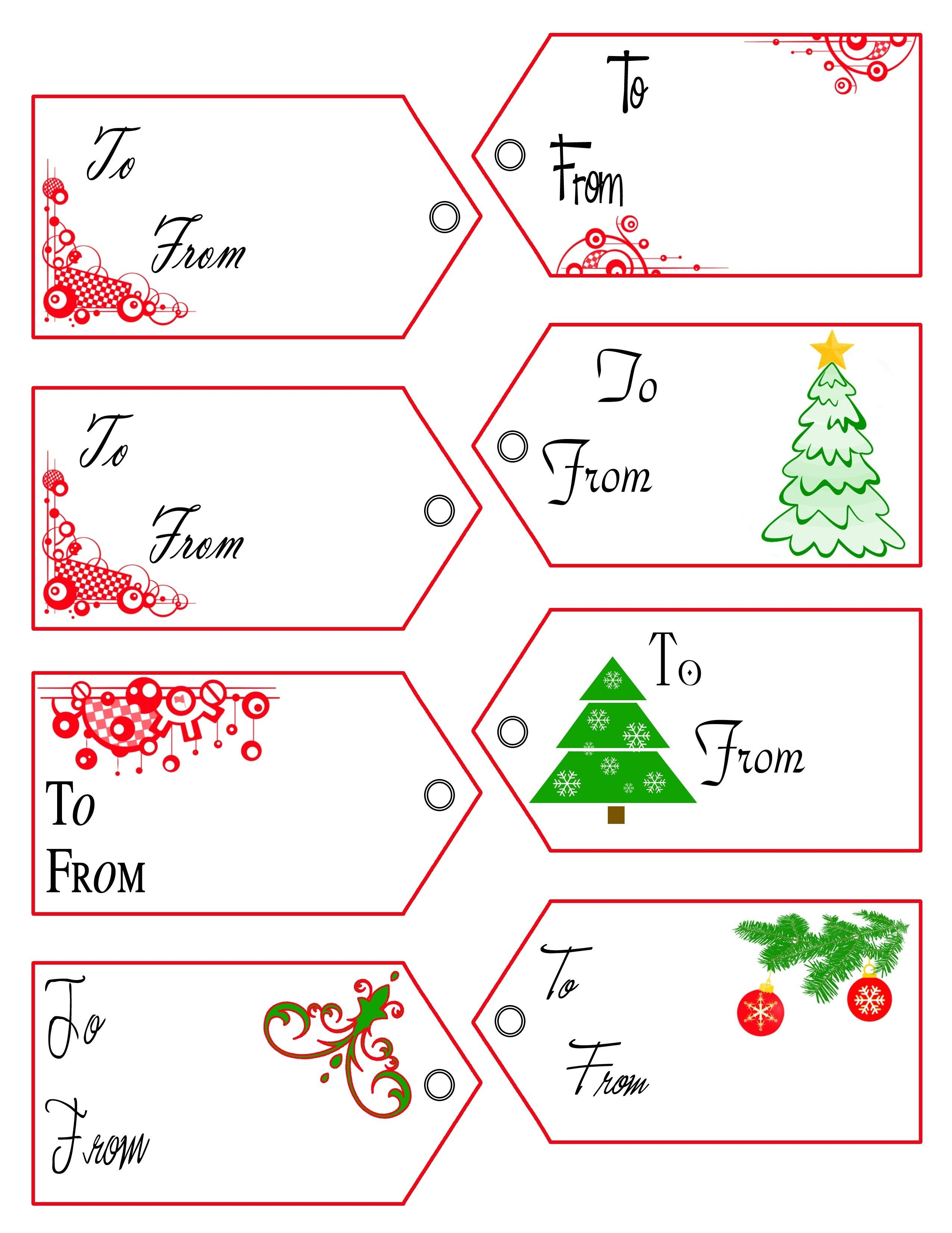 It is a picture of Sly Free Printable Editable Christmas Gift Tags