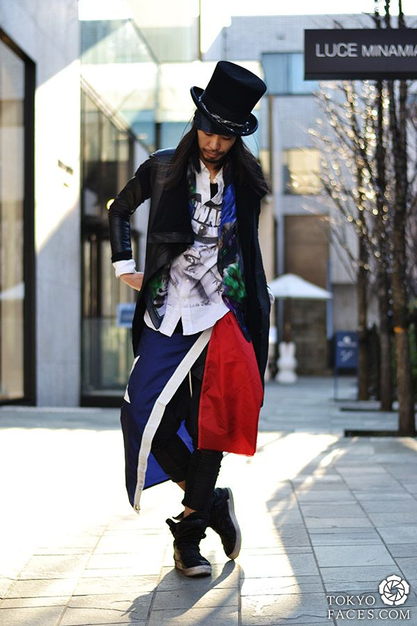 Name: Ryu http://l-aoyama.com/top  Hat: New York Hat Jacket: A.F Homme Shirt: _L Shop Scarf: Muze Pants: A.F Homme Leggings: _L Shop Shoes: Cinzia Araia Bracelet: _L Shop Flag: Real Flag of Texas