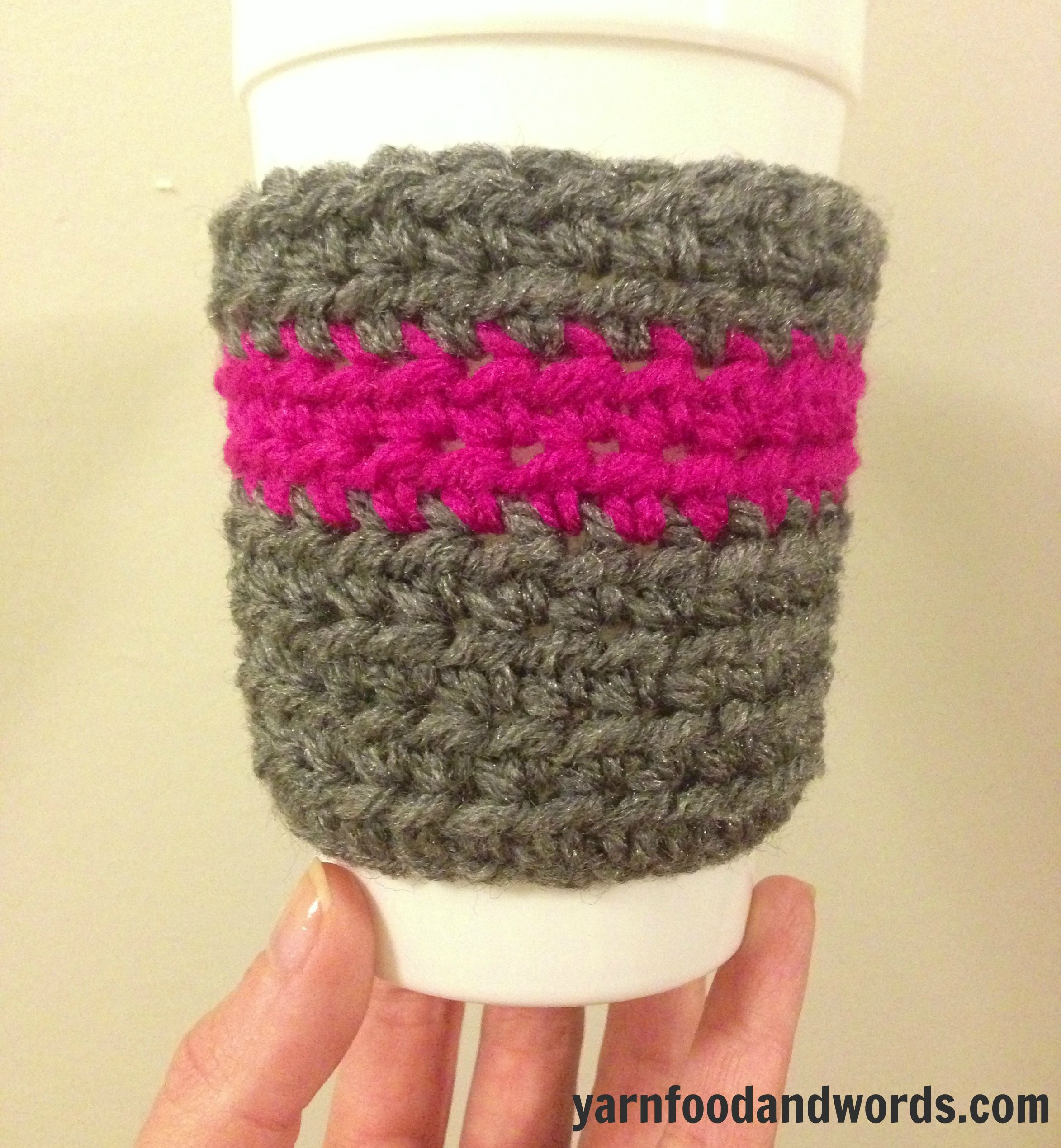 Easy DIY Crochet Coffee Cozy Pattern for Disposable Coffee Cups. Only takes around an hour to complete.
