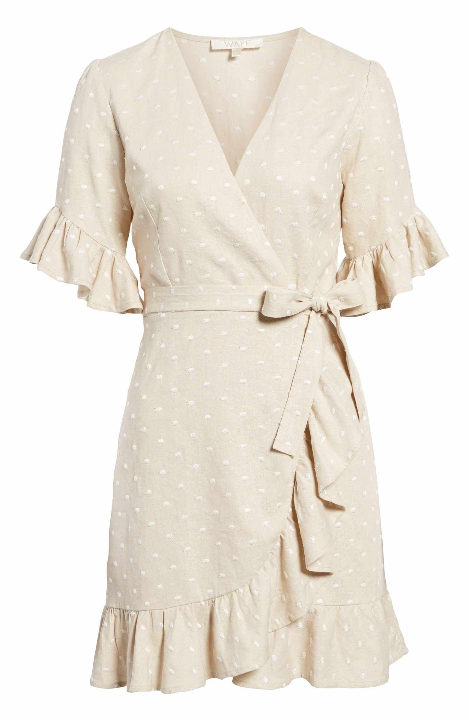 Wayf Ruffle Wrap Dress Nordstrom Ruffle Wrap Dress Wrap Dress Dresses [ 2400 x 1564 Pixel ]