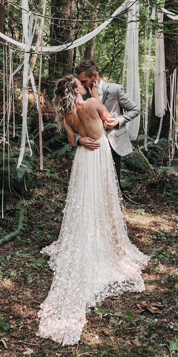 15 Bohemian Wedding Dresses For Charming Brides Forest Wedding Dress Wedding Dress Inspiration Bohemian Wedding Dresses