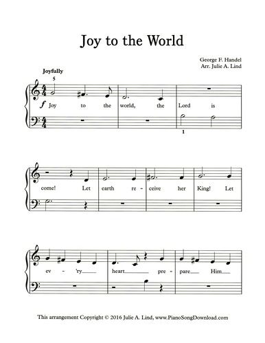 Joy To The World Easy Printable Christmas Carol From Www