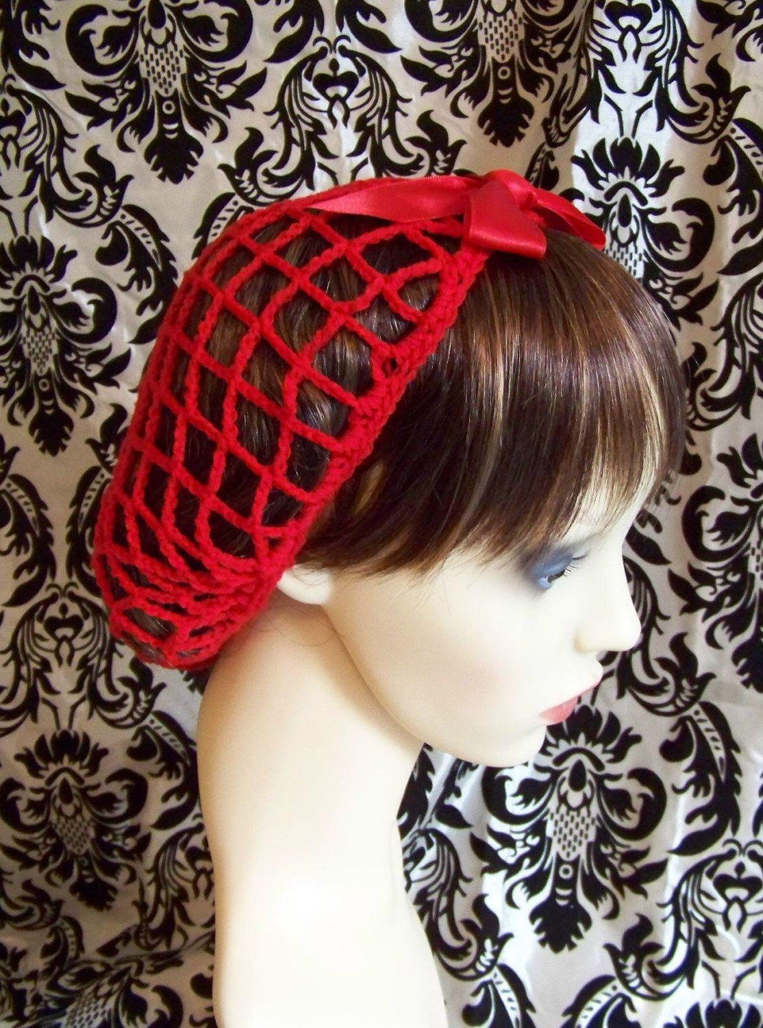 1940s vintage style crochet snood hair net in by EdenValleyVintage ...