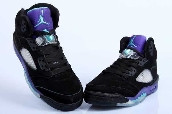 0e7df0a89087 Air Jordan Retro 5 Black Grape Purple Women s shoes