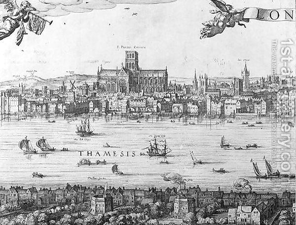 Reprint 10x8 inch 17th Century Map of London W Hollar
