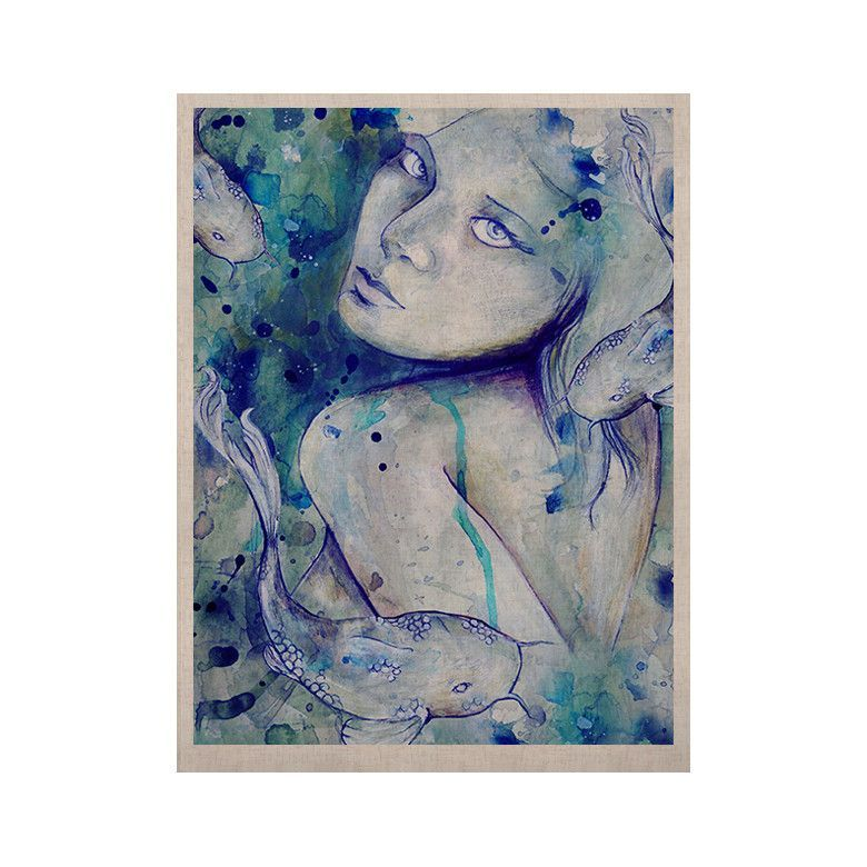 """Kira Crees """"Koi Playing"""" KESS Naturals Canvas (Frame not Included)"""