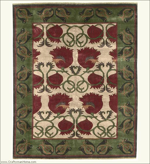 Modern Hand-knotted Craftsman Style Rug. The Persian