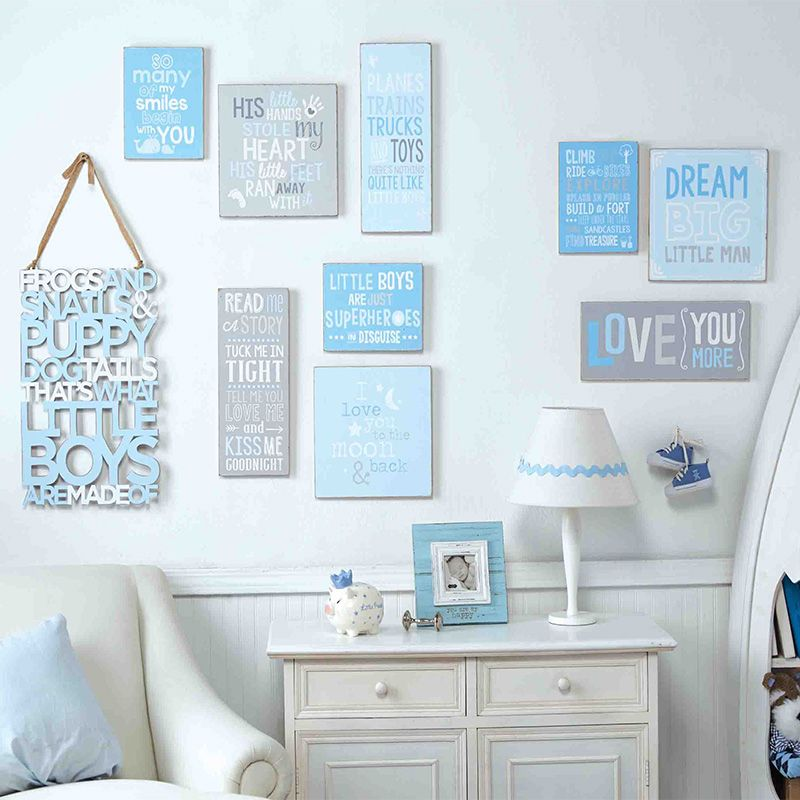 Baby Boy Room Gallery Wall Blue White And Grey Are The Perfect