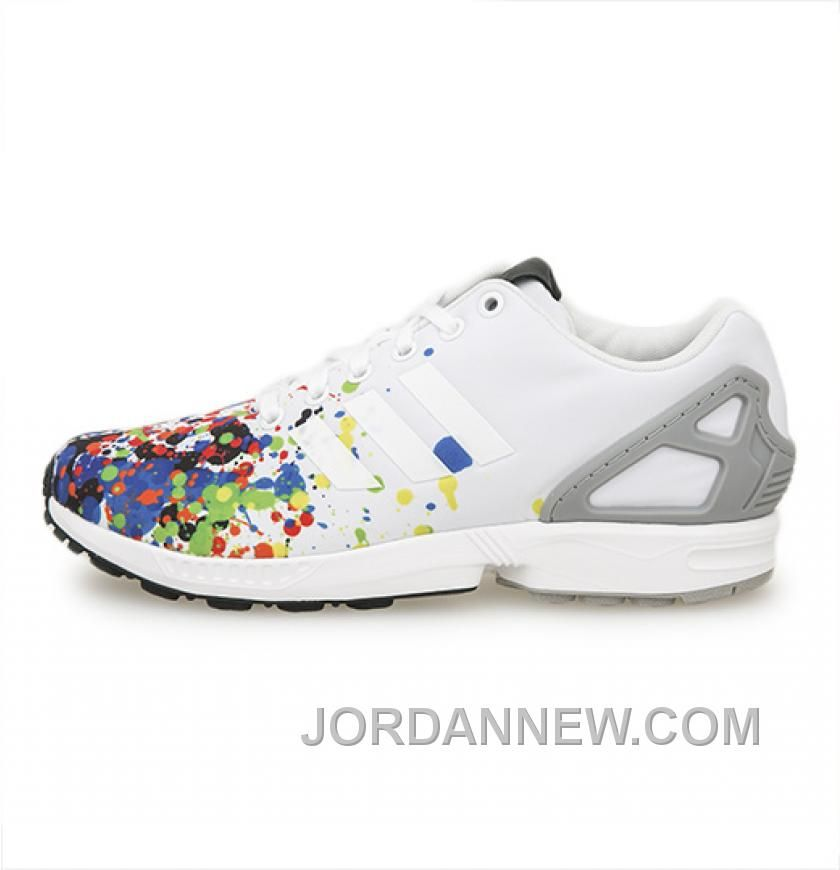 a86ae4284 Women s Nike off adidas shoes outfit Adidas ZX Flux Splatter Toe White  Solid Grey