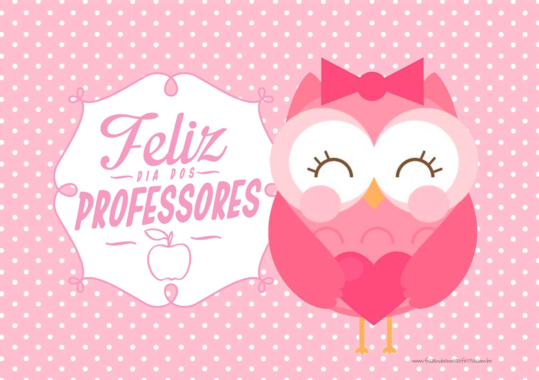Cartão Dia dos Professores Corujinha                                                                                                                                                                                 Mais