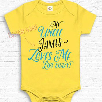 Custom my uncle loves me like crazy baby bodysuit jumper custom my uncle loves me like crazy baby bodysuit jumper personalized baby show negle Gallery