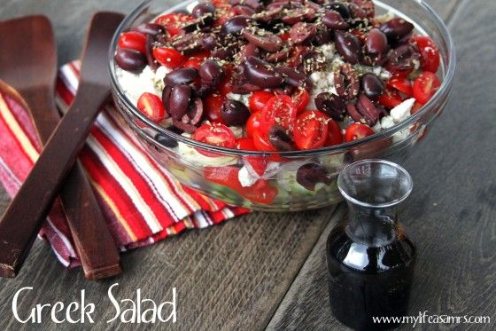 How freaking pretty is this Purple Cafe Greek Salad?? What a salad statement!  via @Tina Wiley