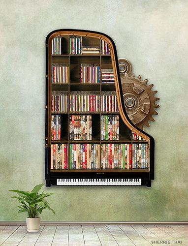 Steampunk Piano Bookshelf | Flickr   Photo Sharing!