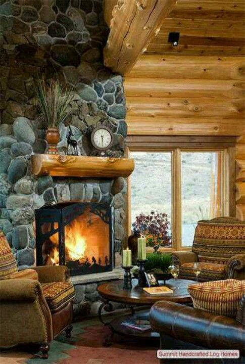 Rustic home designs log cabin living homes cabins river rock also dream macysdreamfund library  rh pinterest
