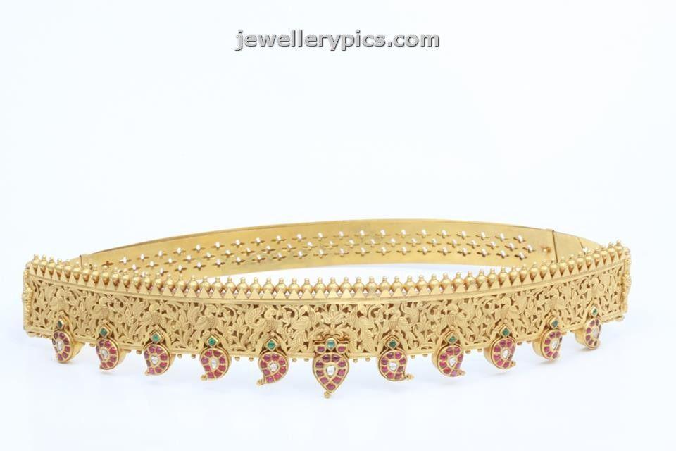 Beautiful Vaddiyanam Waist belt designs from C Krishnah chetty