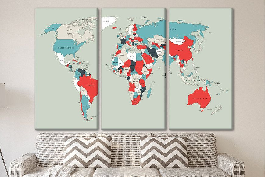 Pin world map pin it map Personalized push pin travel map World push