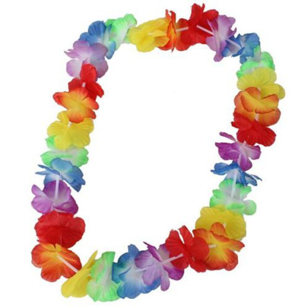 10pcs Tropical Hawaiian Lei Flower Headband Necklace Luau Summer Party Garland