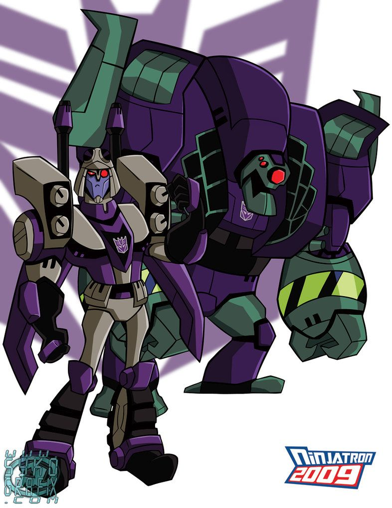 tfa blitzwing and lugnutninjatron | transformers heroes/villains