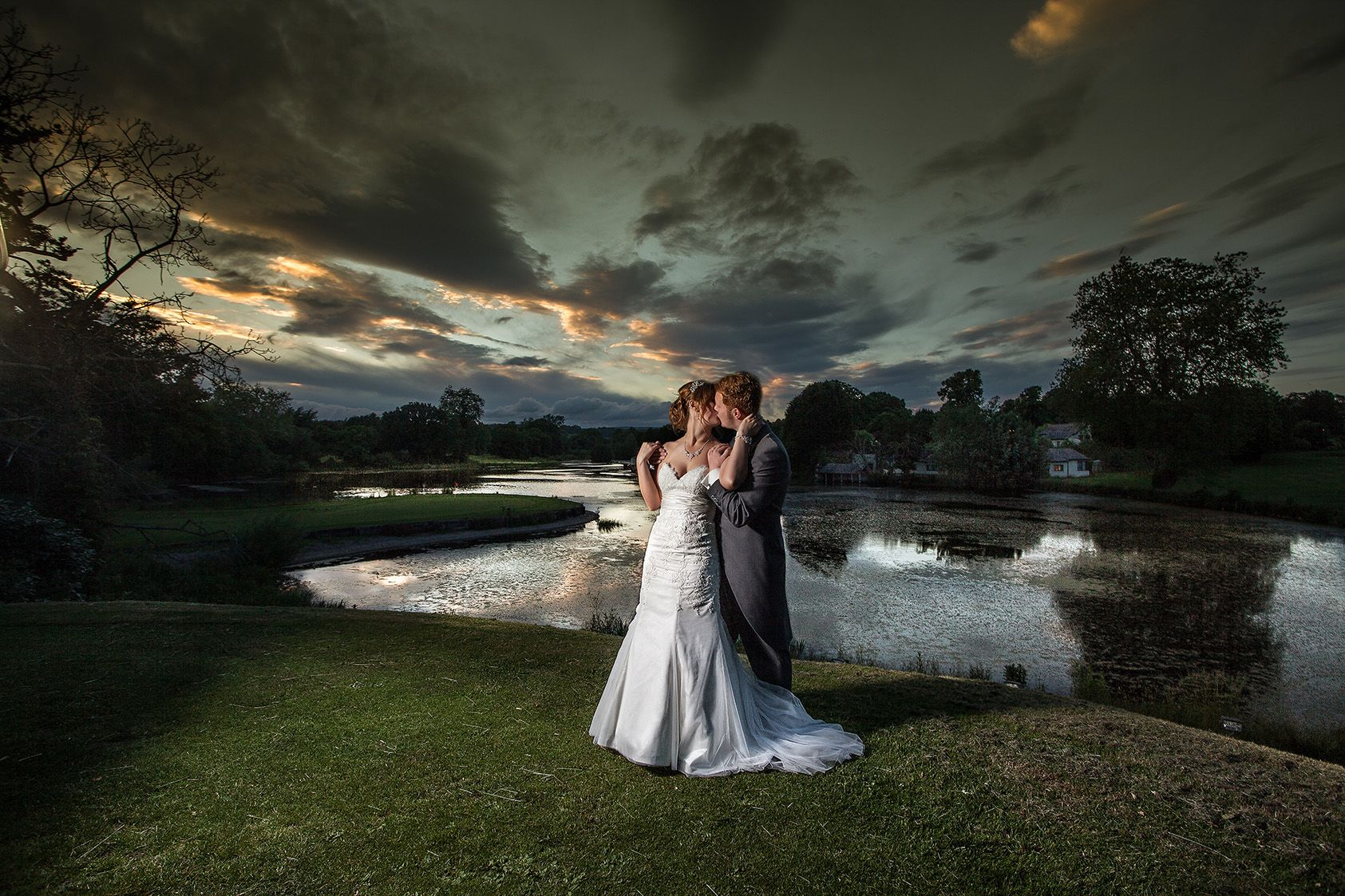 Wedding Photography Under 500: Dramatic Sky, Under Exposed Ambient, Flash To Make The